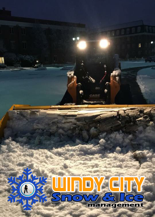 Commercial Snow Plowing in Glen Ellyn