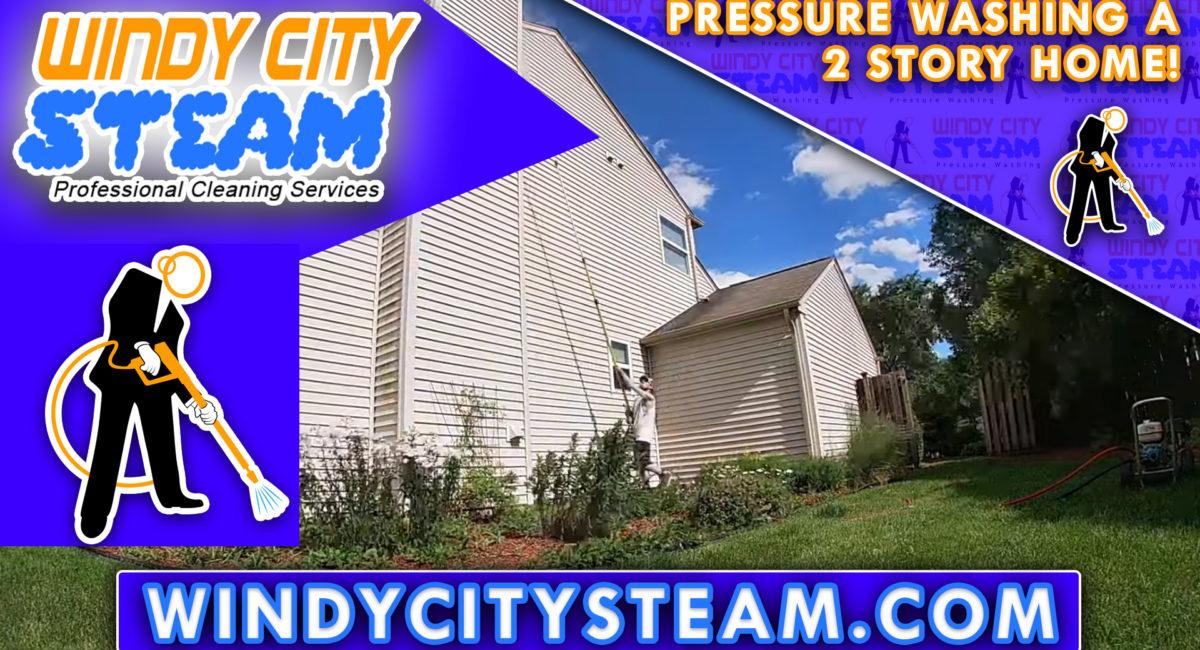Pressure Washing A 2 Story Home